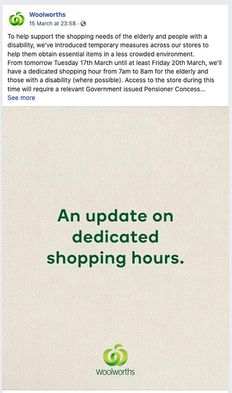 Woolworths Special Trading Hours | Conversion Digital